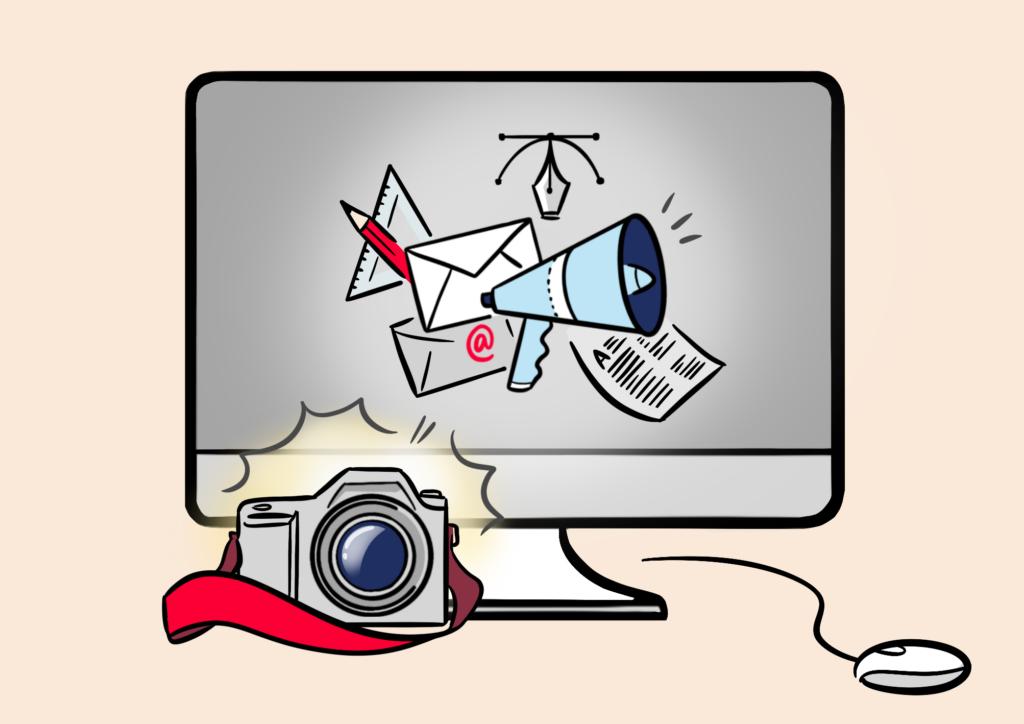 iMac und Fotoapparat